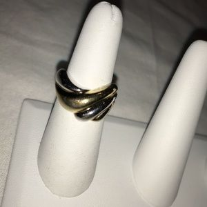 Gold and silver fashion ring, like new - vintage